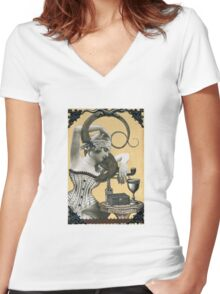 Lydia & her Lizard Women's Fitted V-Neck T-Shirt