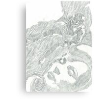 sci fi girl pencil drawing Canvas Print