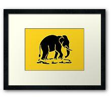 Asian Elephants Ahead / Thai Elephant Trekking Traffic Sign Framed Print