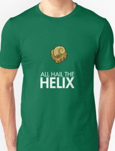 Twitch Plays Pokemon: All Hail The Helix! - Green with White Text Unisex T-Shirt