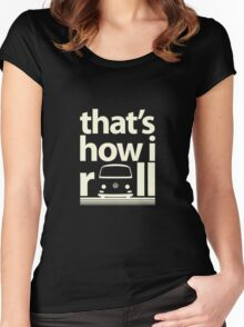 How I Roll Early Bay Cream Women's Fitted Scoop T-Shirt