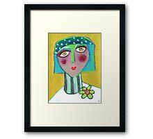 Shiva in the Green Framed Print