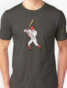 Baseball Player Batting Side Isolated Cartoon Unisex T-Shirt
