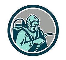Pest Control Exterminator Spraying Retro  by patrimonio