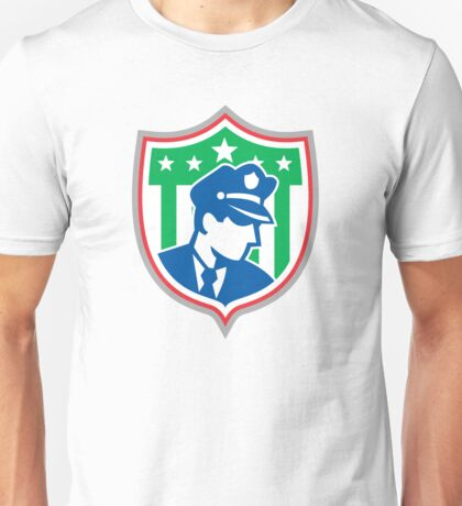 Security Guard Police Officer Shield Unisex T-Shirt