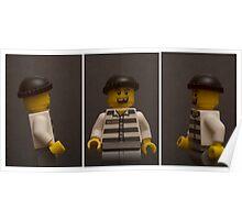 Mugshot Triptych Poster