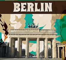 Berlin Vintage Travel Poster by Nick  Greenaway