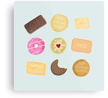 Biscuits for Tea Metal Print