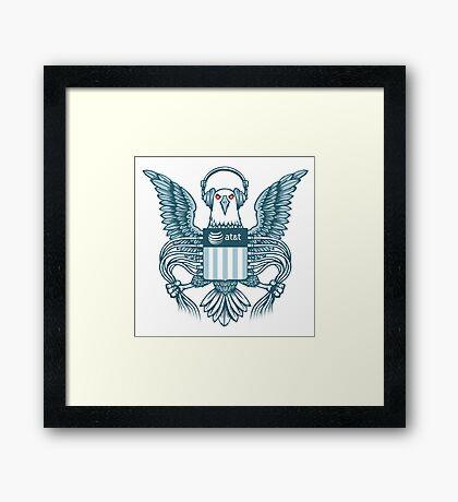 NSA parody logo Framed Print
