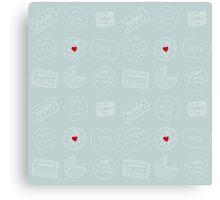 Biscuit doodles Canvas Print
