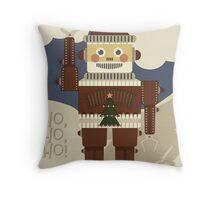 Robot Santa - Ho, Ho, Ho! Throw Pillow