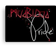 Mudblood Pride (version 2, white) Canvas Print