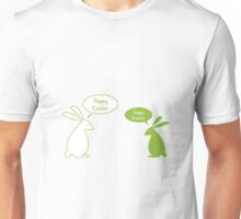 Happy Easter card with bunnies Unisex T-Shirt