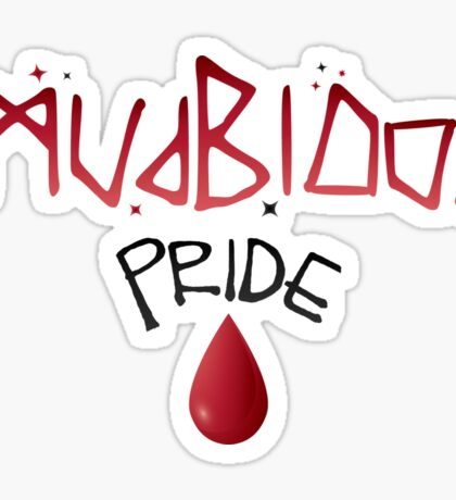 Mudblood Pride (version 1, black) Sticker