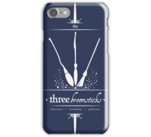The Three Broomsticks in White iPhone Case/Skin