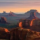 Hunts Mesa - Monument Valley by Henk Meijer