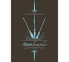 The Three Broomsticks in Blue Photographic Print