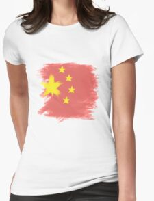 China Flag Chinese Womens Fitted T-Shirt