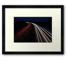 Cool Light Trails Framed Print