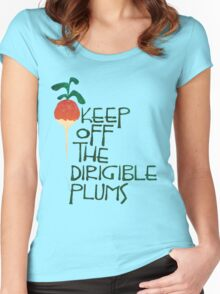 Keep Off the Dirigible Plums Women's Fitted Scoop T-Shirt