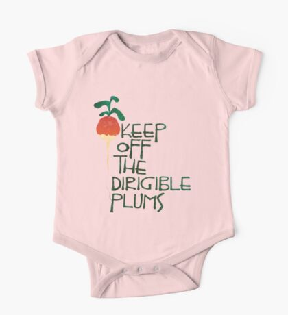 Keep Off the Dirigible Plums One Piece - Short Sleeve