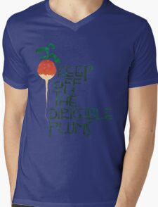 Keep Off the Dirigible Plums Mens V-Neck T-Shirt