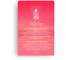 Affirmation - Reflection Canvas Print