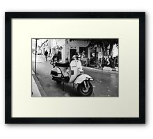 Vespa Cafe Framed Print