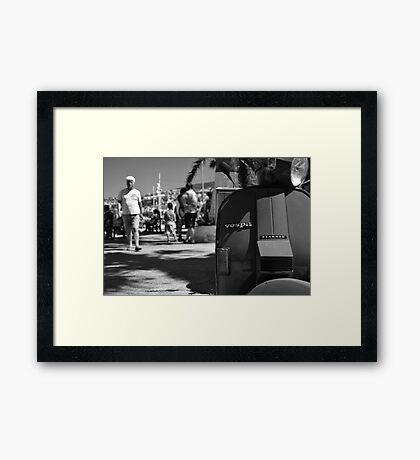 Vespa Street Framed Print