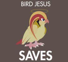 Twitch Plays Pokemon: Bird Jesus Saves - Dark with White Text by Twitch Plays Pokemon