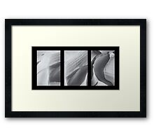 Snow Dunes Abstract Framed Print