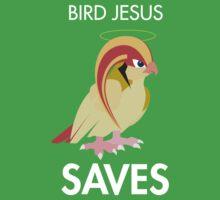Twitch Plays Pokemon: Bird Jesus Saves - Green with White Text by Twitch Plays Pokemon
