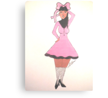 Breast Cancer Awareness Card Canvas Print