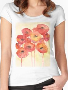 Red Poppy Women's Fitted Scoop T-Shirt
