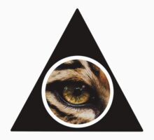 Triangle Leopard-Eye Design Kids Tee