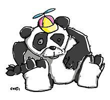 Cute Panda Bear wears a stupid Cap by chrisbears