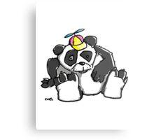 Cute Panda Bear wears a stupid Cap Metal Print