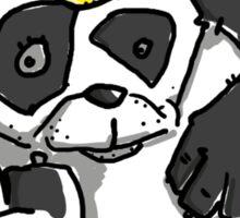 Cute Panda Bear wears a stupid Cap Sticker
