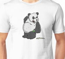 Drunken Panda Bear with Beer Bottle Unisex T-Shirt