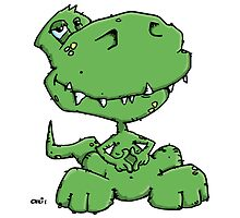 Funny sitting Dinosaur by chrisbears