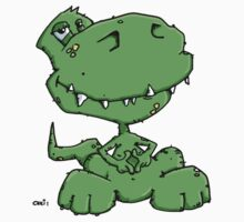 Funny sitting Dinosaur Kids Clothes