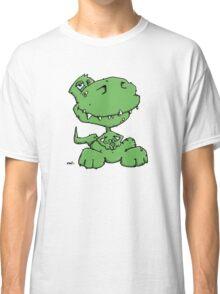 Funny sitting Dinosaur Classic T-Shirt