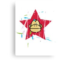 Monkey Red Star - Monkey Revolution Canvas Print
