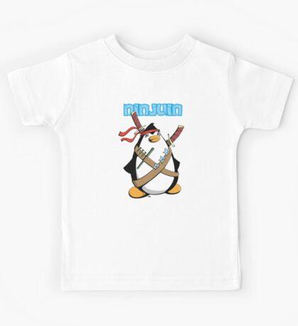 Ninjuin - The Ninja Penguin Kids Tee