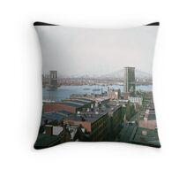 Brooklyn Bridge, New York, ca. 1904 Throw Pillow