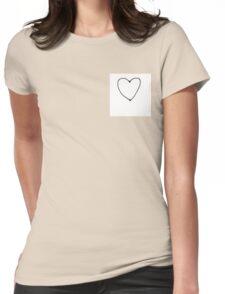 Little Heart Womens Fitted T-Shirt