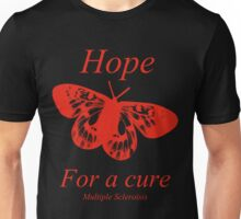 Hope Butterfly- MS Multiple Sclerosis Unisex T-Shirt