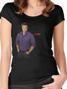 He Really Is Ruggedly Handsome - Castle Nathan Fillion Women's Fitted Scoop T-Shirt
