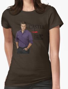 He Really Is Ruggedly Handsome - Castle Nathan Fillion Womens Fitted T-Shirt
