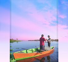 Ipad: Canoe Maracaibo Fishers by Steven House